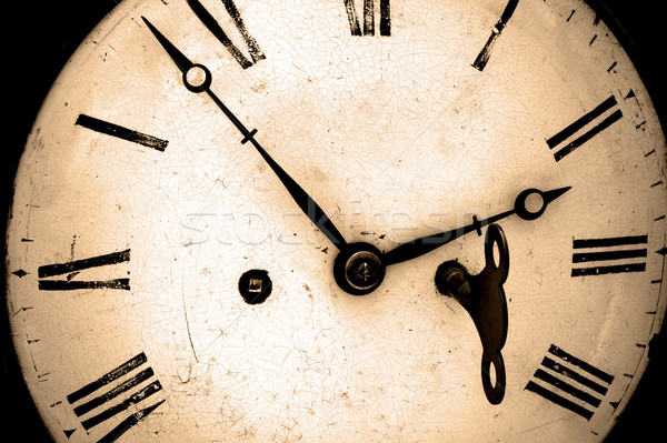 Antique wind up clock. Stock photo © RTimages