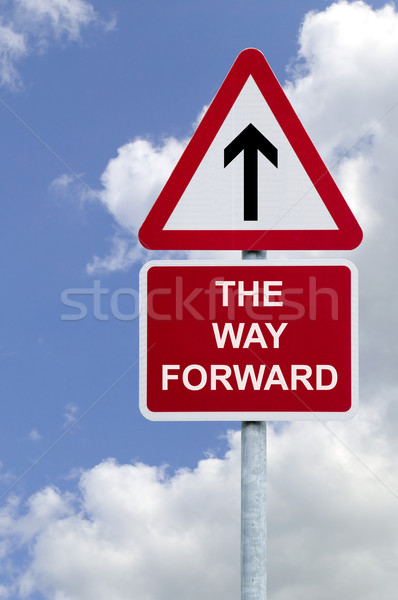 The Way Forward sign in the sky Stock photo © RTimages