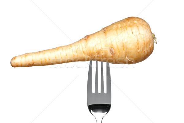 商業照片: 叉 · 孤立 · 白 · 照片 · 健康 · 吃