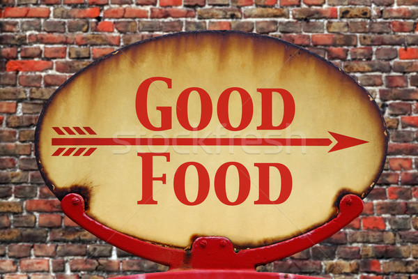 Retro sign Good Food Stock photo © RTimages
