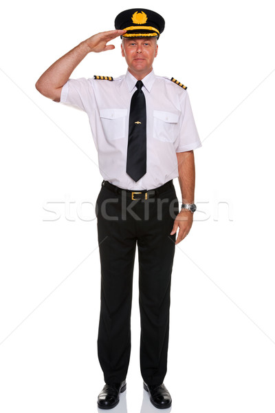 Airline pilot salute. Stock photo © RTimages