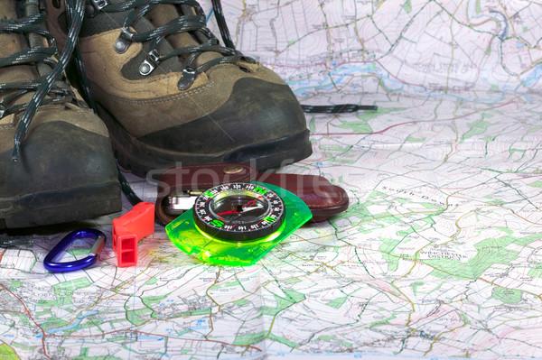 Przygoda turystyka Pokaż sportowe kompas Zdjęcia stock © RTimages
