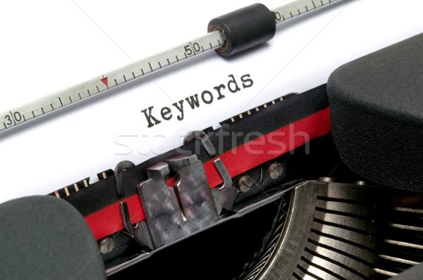 Typewriter Keywords Stock photo © RTimages