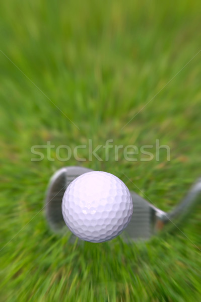 Golf shot ball in flight Stock photo © RTimages