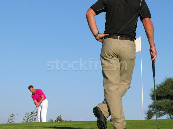 Stock photo: Long putt