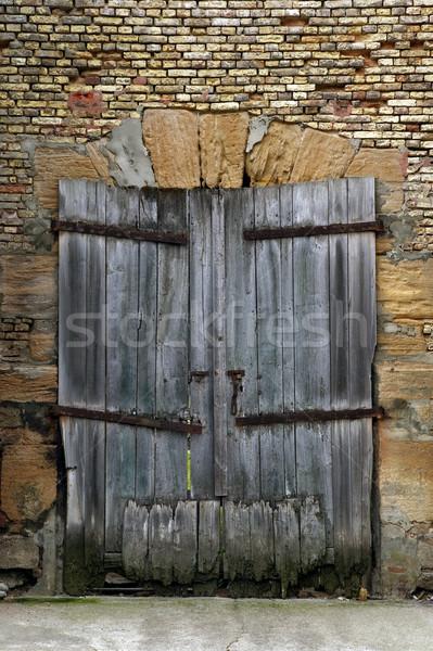 Old derelict wooden door Stock photo © RTimages
