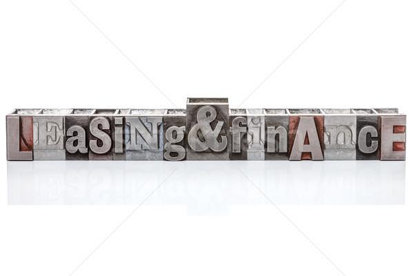 Foto stock: Arrendamento · financiar · isolado · palavras · velho