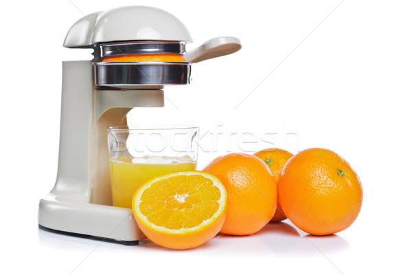 Freshly squeezed orange juice isolated Stock photo © RTimages