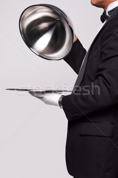 Butler and silver service Stock photo © RTimages