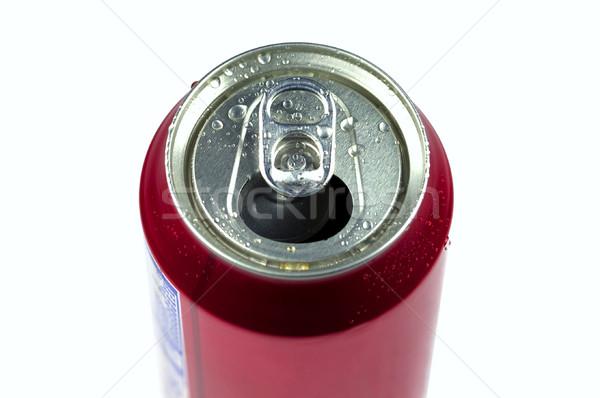 Lata soda abrir frio foco anel Foto stock © RTimages