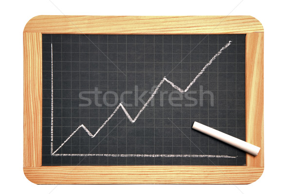 Blackboard grafiek tonen groei business Stockfoto © RTimages