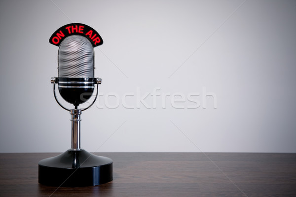 Retro Desk Microphone Stock photo © RTimages