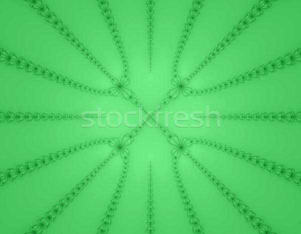 Groene micro bloemen computer gegenereerde afbeelding Stockfoto © RTimages