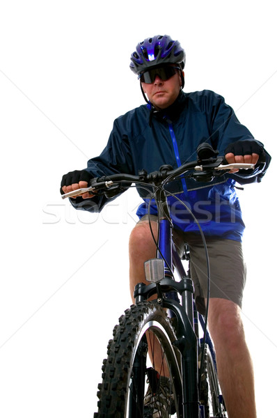 Man on a Mountain bike Stock photo © RTimages