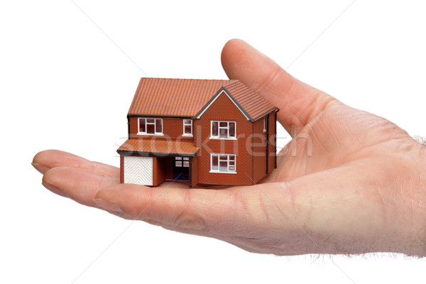 Hand holding a miniature house Stock photo © RTimages