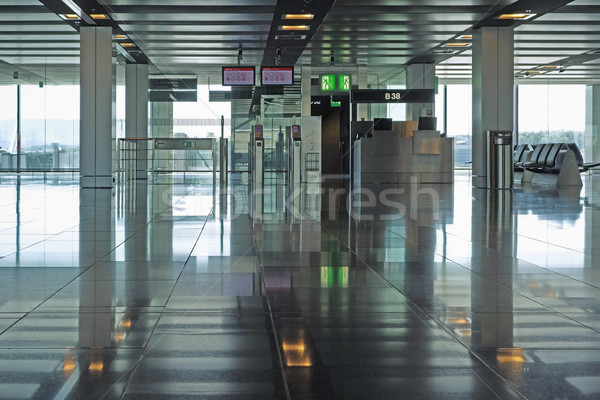 Departure gate at a modern airport Stock photo © RTimages