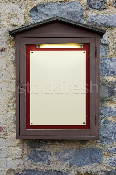 Illuminated wooden notice board Stock photo © RTimages