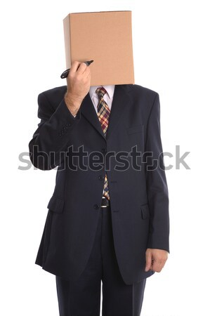 Box Man - draw a face. Stock photo © RTimages