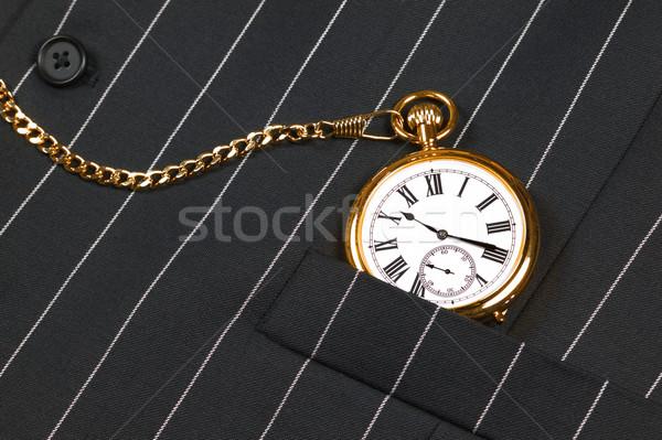 Stock photo: Pocket watch and waistcoat