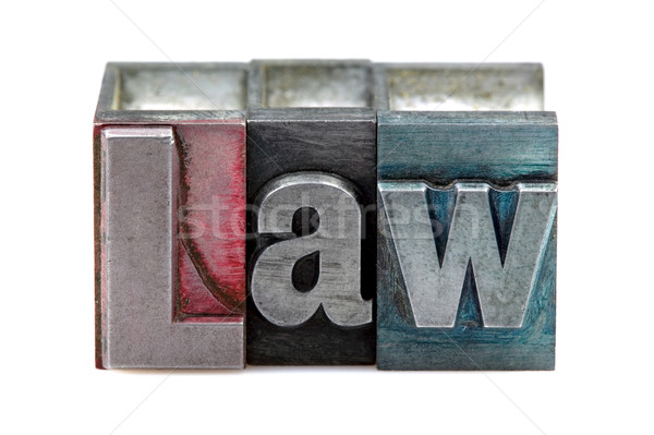 Letterpress Law Stock photo © RTimages