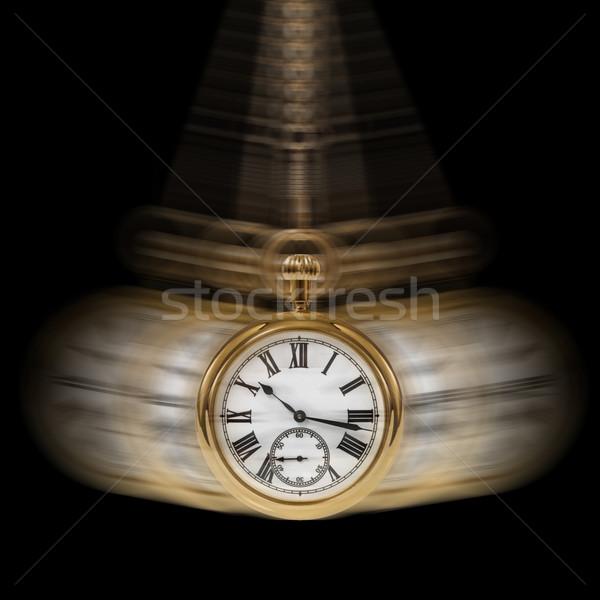 Tempo movimento nero immagine catena oro Foto d'archivio © RTimages