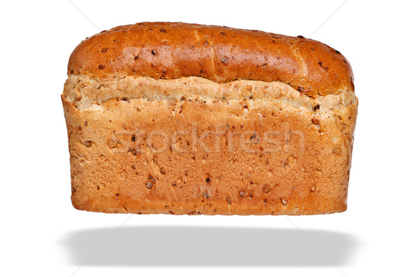 Loaf of granary bread isolated on awhite background. Stock photo © RTimages