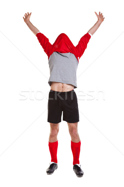 Footballer cut out on white Stock photo © RTimages