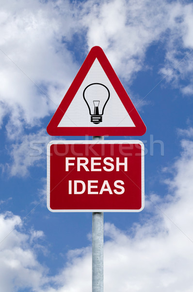 Fresh ideas sign in the sky Stock photo © RTimages