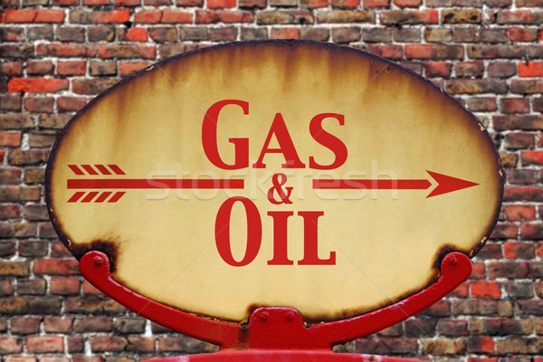 Retro sign Gas and Oil Stock photo © RTimages