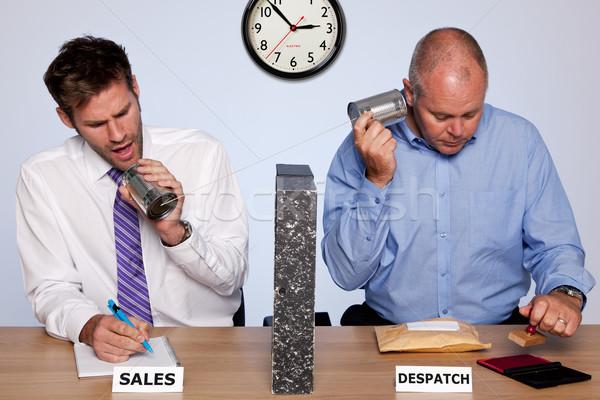 Eladó részleg szórakoztató fotó mutat mögött Stock fotó © RTimages