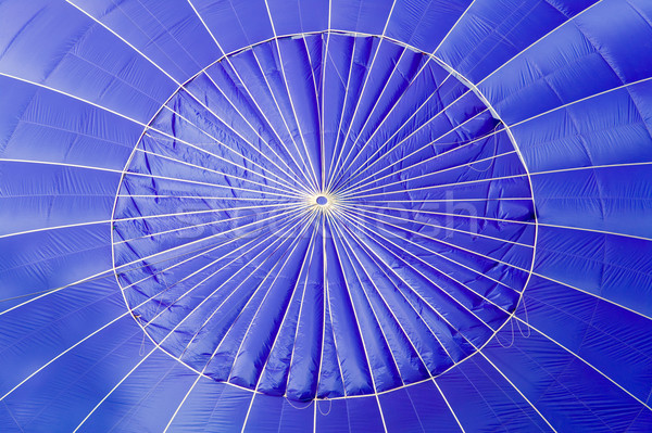 Blue hot air balloon close up. Stock photo © RTimages