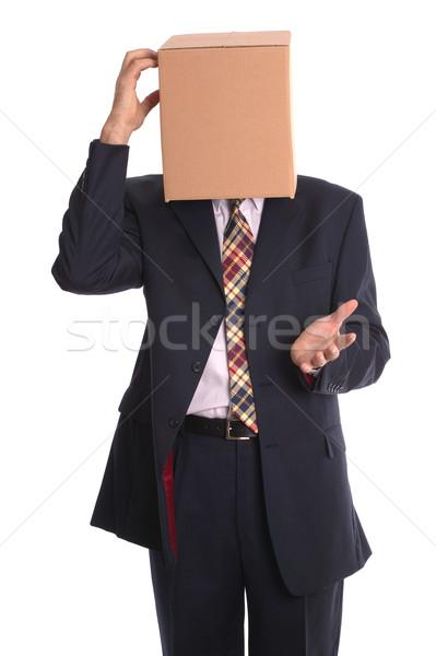 Finestra uomo pensare fuori imprenditore immagine Foto d'archivio © RTimages