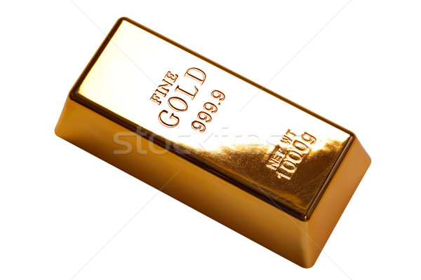 Gold bar isolated with clipping path Stock photo © RTimages