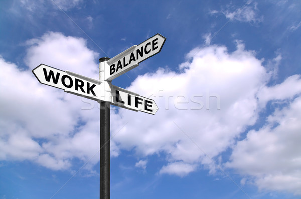 Work Life Balance signpost Stock photo © RTimages