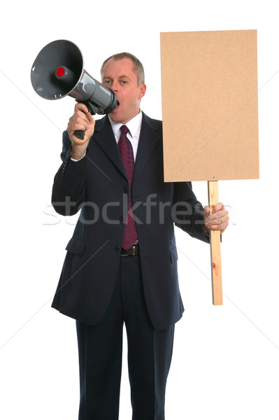 Businessman demonstration Stock photo © RTimages