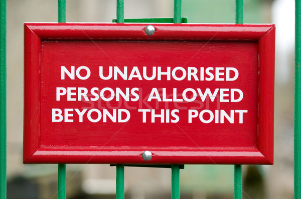 No unauthorised persons Stock photo © RTimages