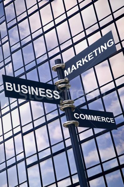 Affaires marketing commerce signe image panneau Photo stock © RTimages