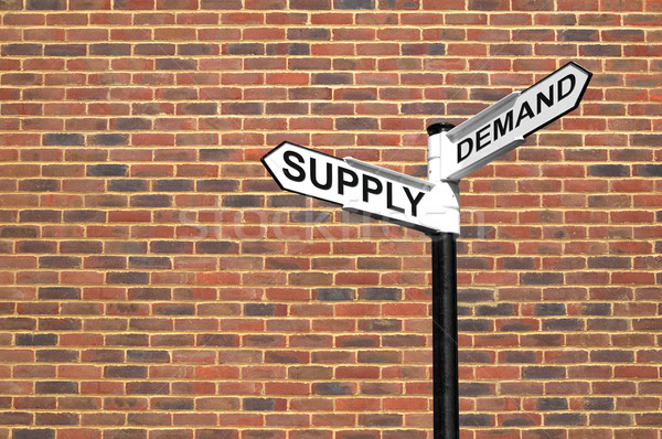 Supply and Demand signpost Stock photo © RTimages