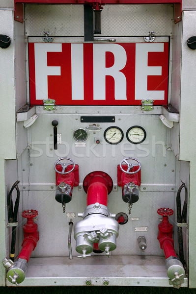 Rear of fire engine Stock photo © RTimages