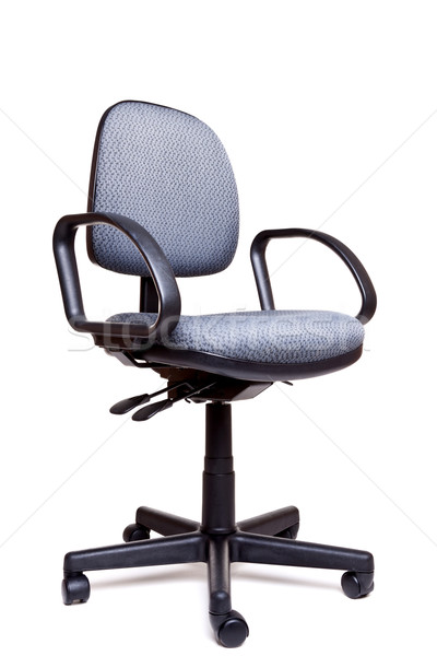 Office swivel chair side facing white background Stock photo © RTimages