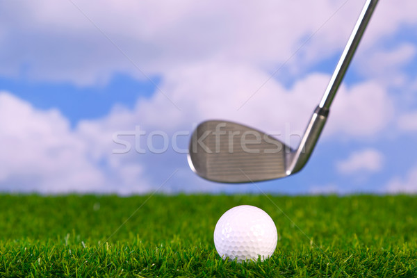 Photo of a golf club hitting ball Stock photo © RTimages