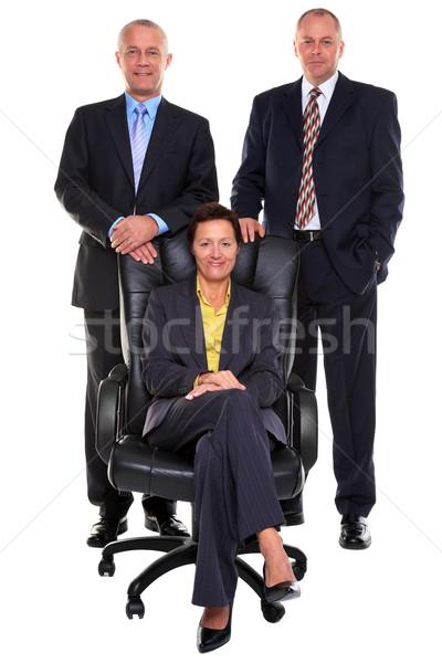 Három érett üzletemberek fotó kettő üzletemberek Stock fotó © RTimages