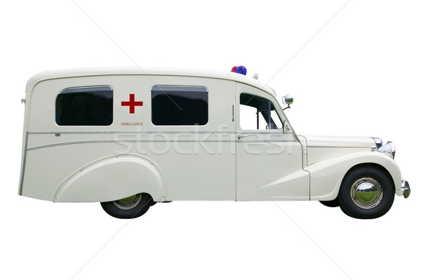 Ambulance vintage vieux isolé blanche Photo stock © RTimages