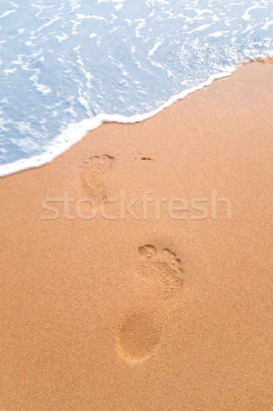 Footprints on the beach Stock photo © RTimages