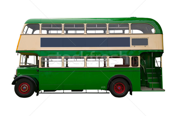 Old Green double decker bus Stock photo © RTimages