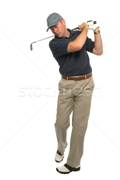 Golfer follow through swing Stock photo © RTimages
