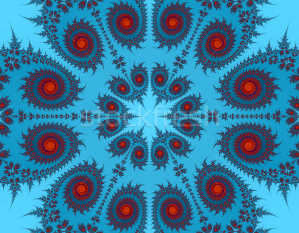 Blue and red Paisley Stock photo © RTimages