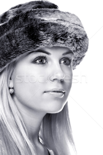Woman wearing a fur hat Stock photo © RTimages