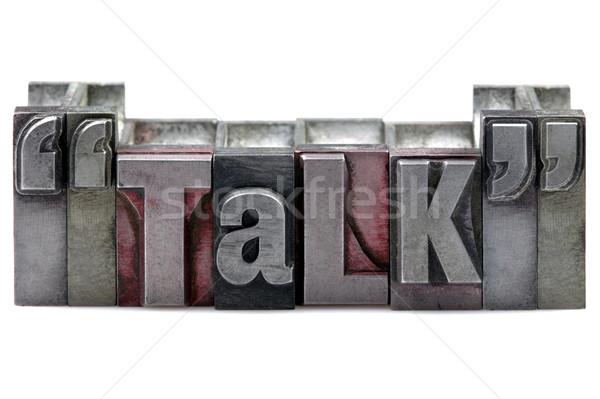 Hablar palabra edad impresión bloques Foto stock © RTimages