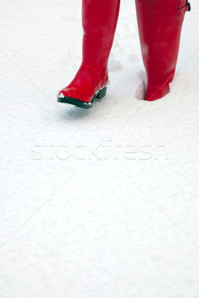 Red wellies in the snow Stock photo © RTimages